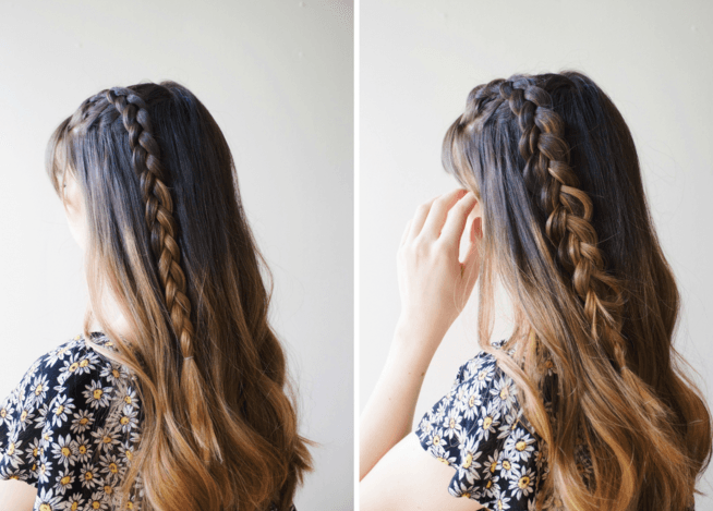 Cute DIY Simple Braided Ponytail