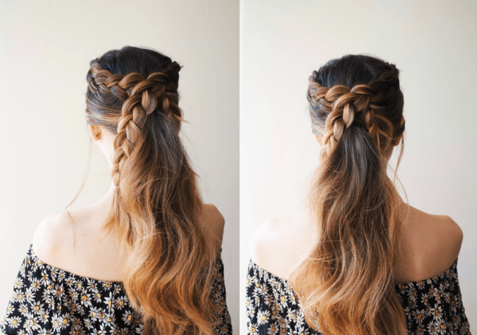 DIY Simple Braided Ponytail