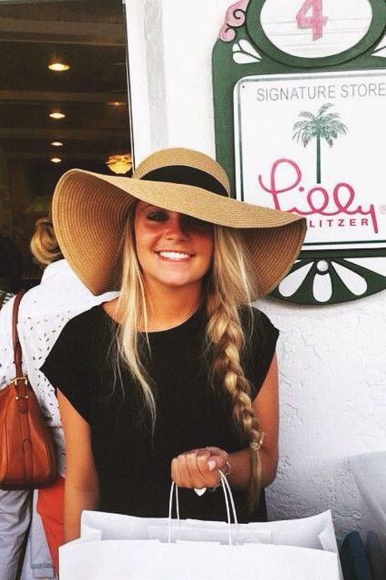 trendy wide brimmed summer hat