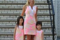 03 bold watercolor dresses for a mom and daughters