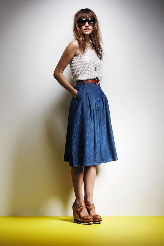 27 Trendy Summer Denim Skirt Outfits That Inspire - Styleoholic