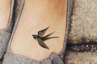 03 lovely bird foot tattoo