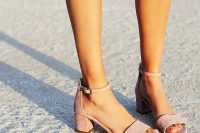 04 blush suede block heel sandals