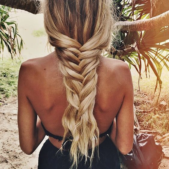 loose summer fishtail braid
