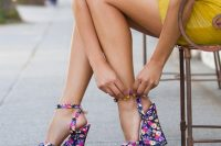 06 floral wedge sandals