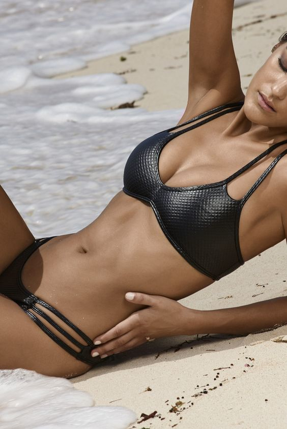 23 Sexy Leather Swimsuits To Stand Out - Styleoholic