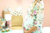 07 mint green chiffon maternity dress