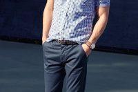 08 short-sleeved men shirt