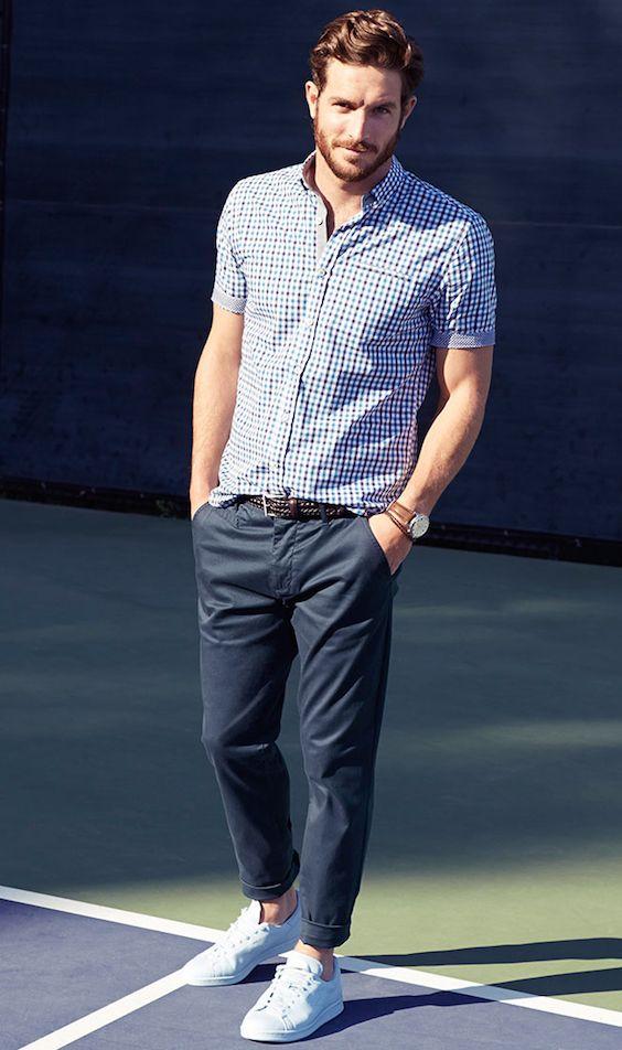short sleeved men shirt