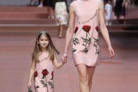 09 matching blush sleeveless family dress