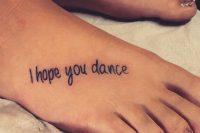 09 short phrase foot tattoo