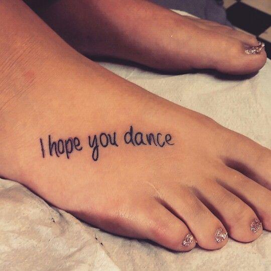 short phrase foot tattoo