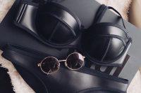 11 sexy black leather bikini