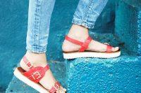 12 buckle platform sandals