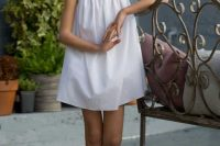 13 white summer ribbon dress