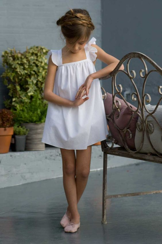 white summer ribbon dress