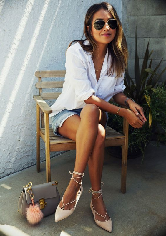 lace up summer flats