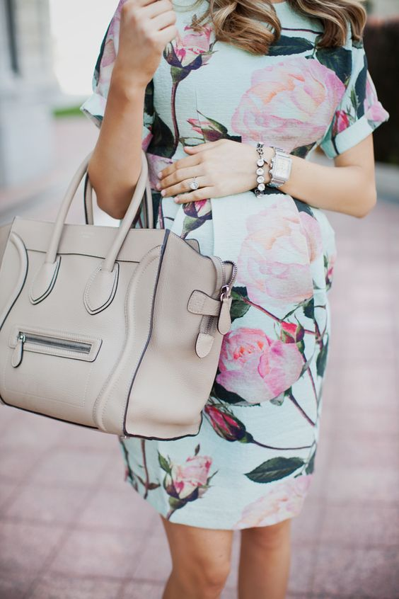 floral loose maternity dress