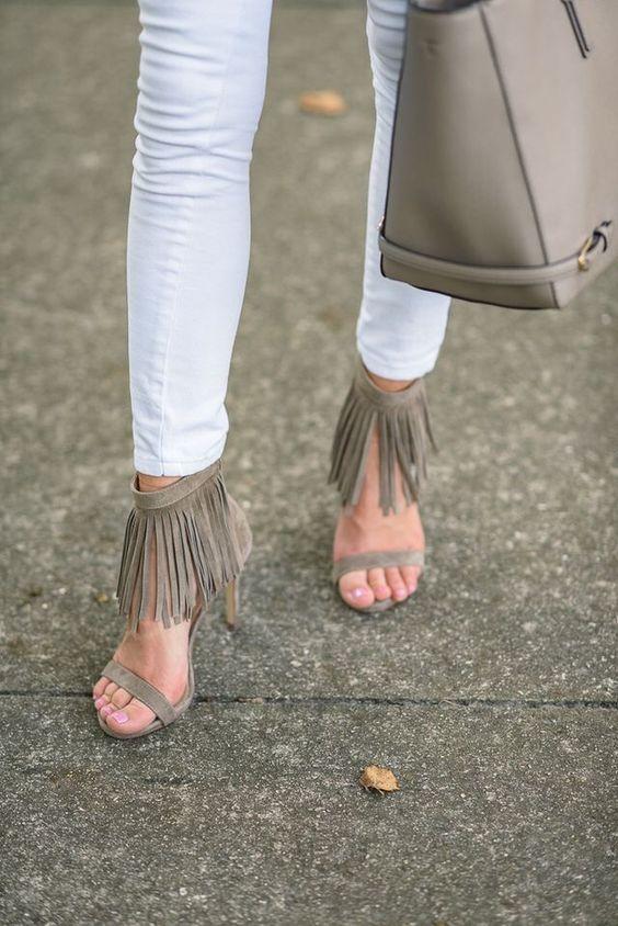 fringe ankle strap sandals