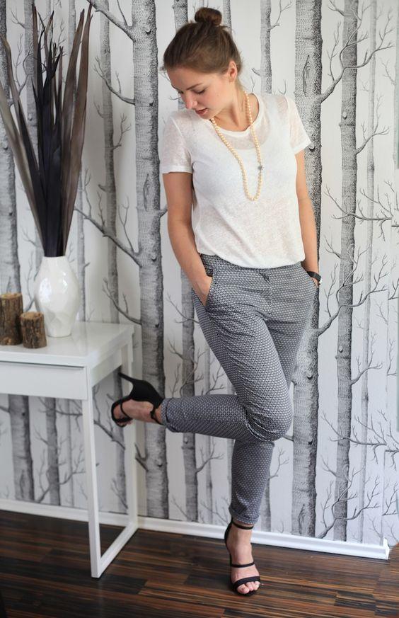 Black jacket grey pants interview