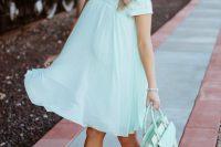 18 mint baby shower dress