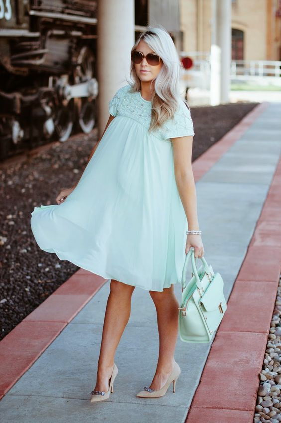 mint baby shower dress