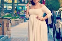 19 off the shoulders baby shower maxi dress