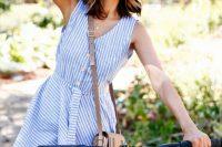 19 striped light blue dress