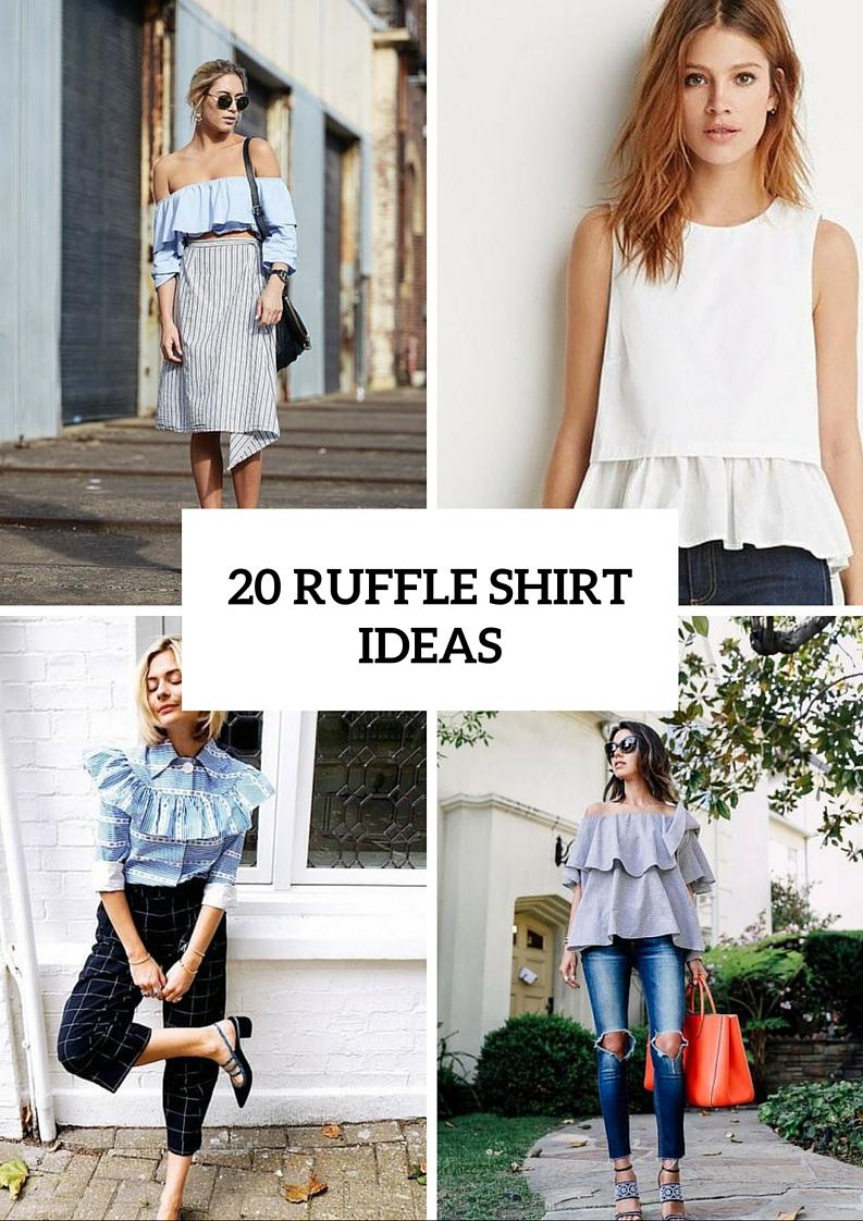 Airy Ruffle Shirt Ideas For This Summer
