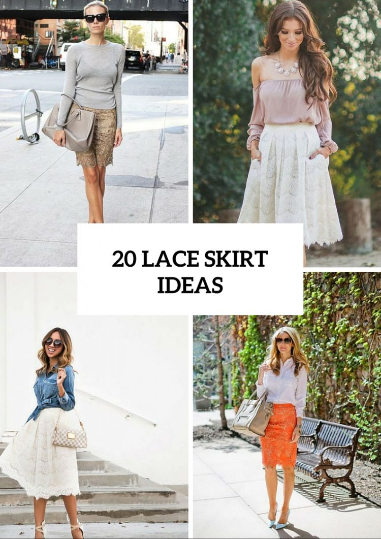 20 Elegant Lace Skirt Ideas For This Season