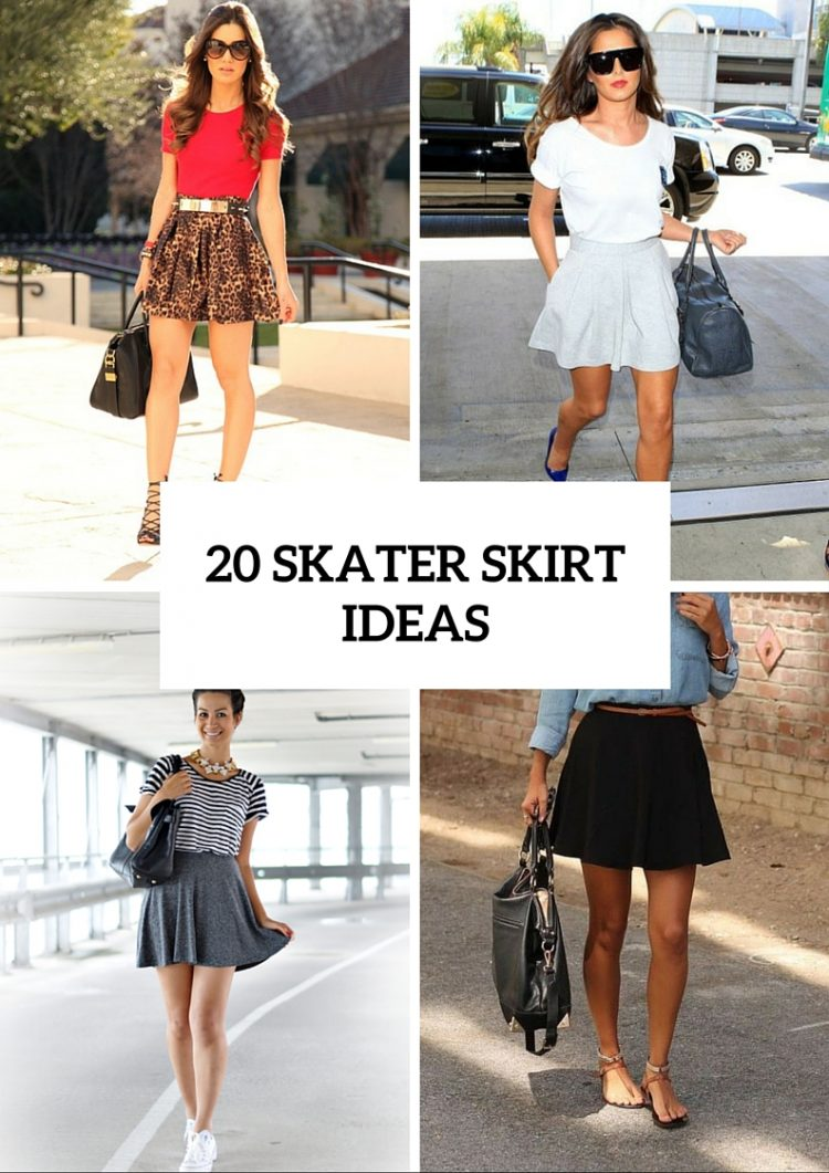 02248c60fbc539 20 Girlish Outfits With Skater Skirts To Repeat - Styleoholic