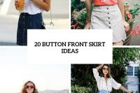 20 Stylish Button Front Skirt Ideas For Summer