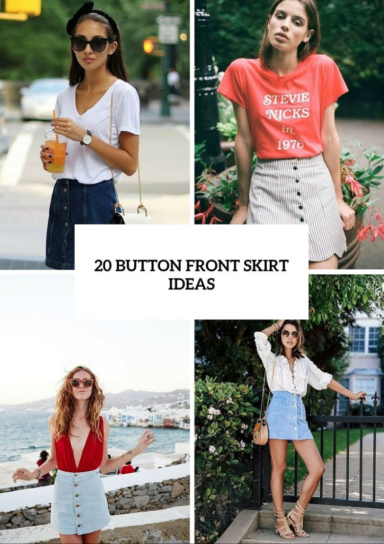 20 Stylish Button Front Skirt Outfits For Summer