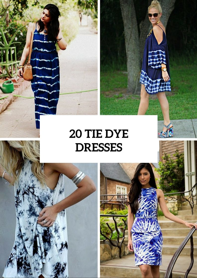 Unique Tie Dye Dresses For Summertime