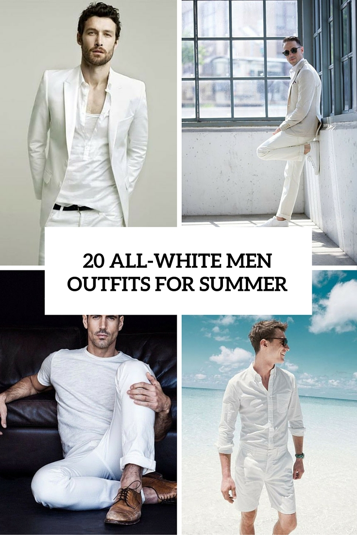 20 All-White Outfits For Men To Rock This Summer