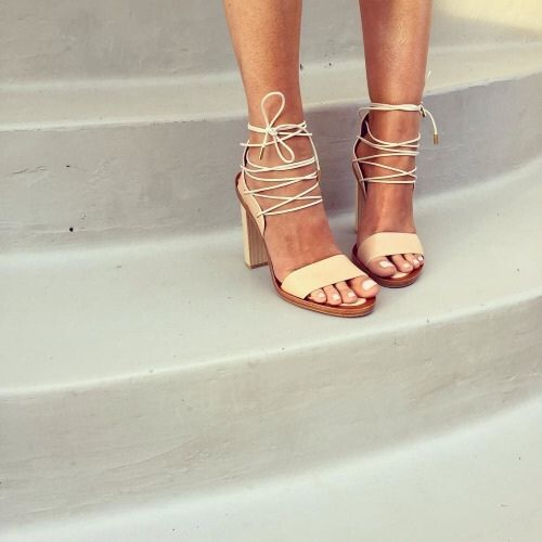 lace up heel sandals