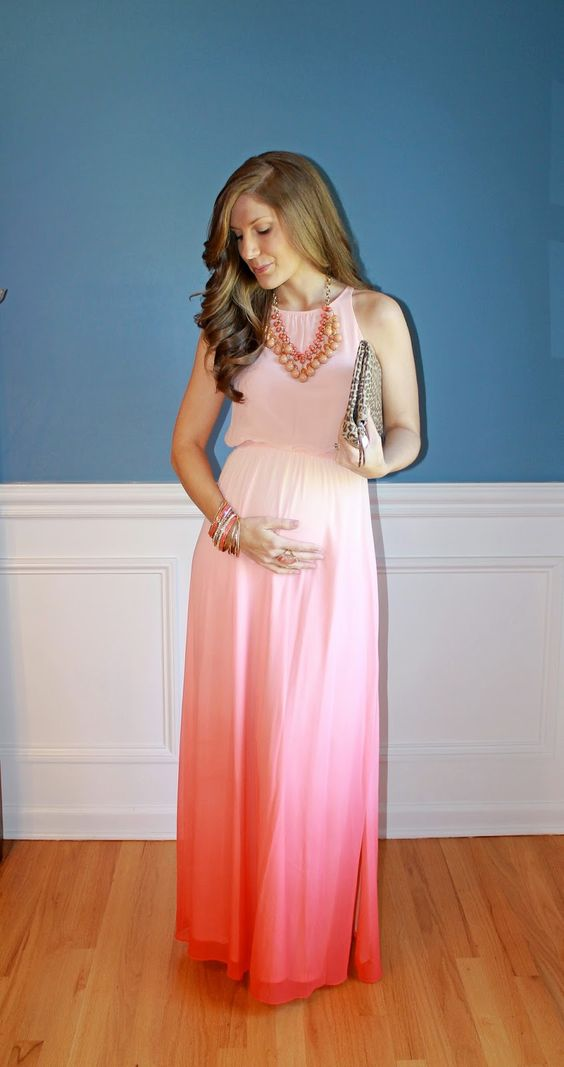 ombre maxi maternity dress