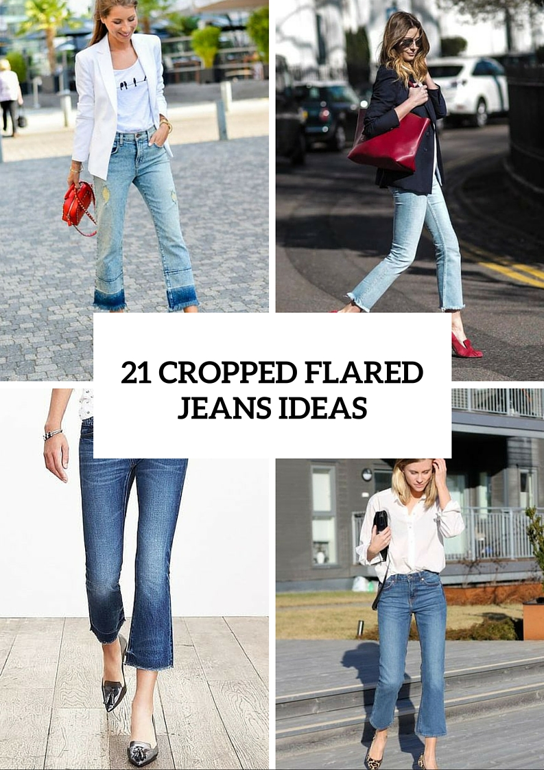Cool Cropped Flared Jeans Ideas