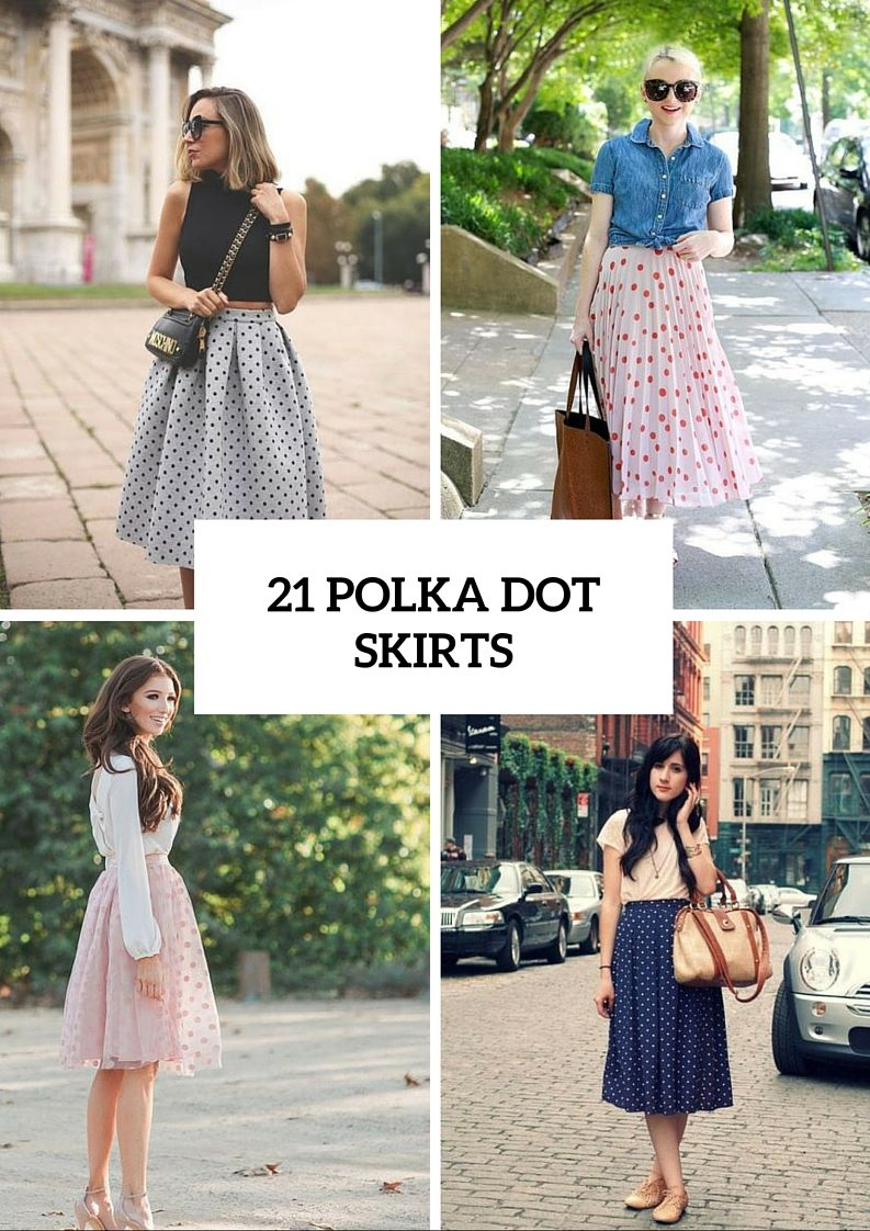 21 Flirty Polka Dot Skirts To Try This Summer