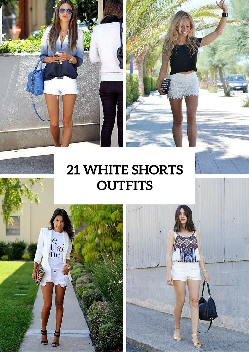 21 Stunning White Shorts Outfits For This Season - Styleoholic