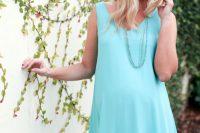 21 simple aqua baby shower dress for a mom