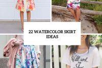 22 Feminine Watercolor Skirt Ideas For This Summer