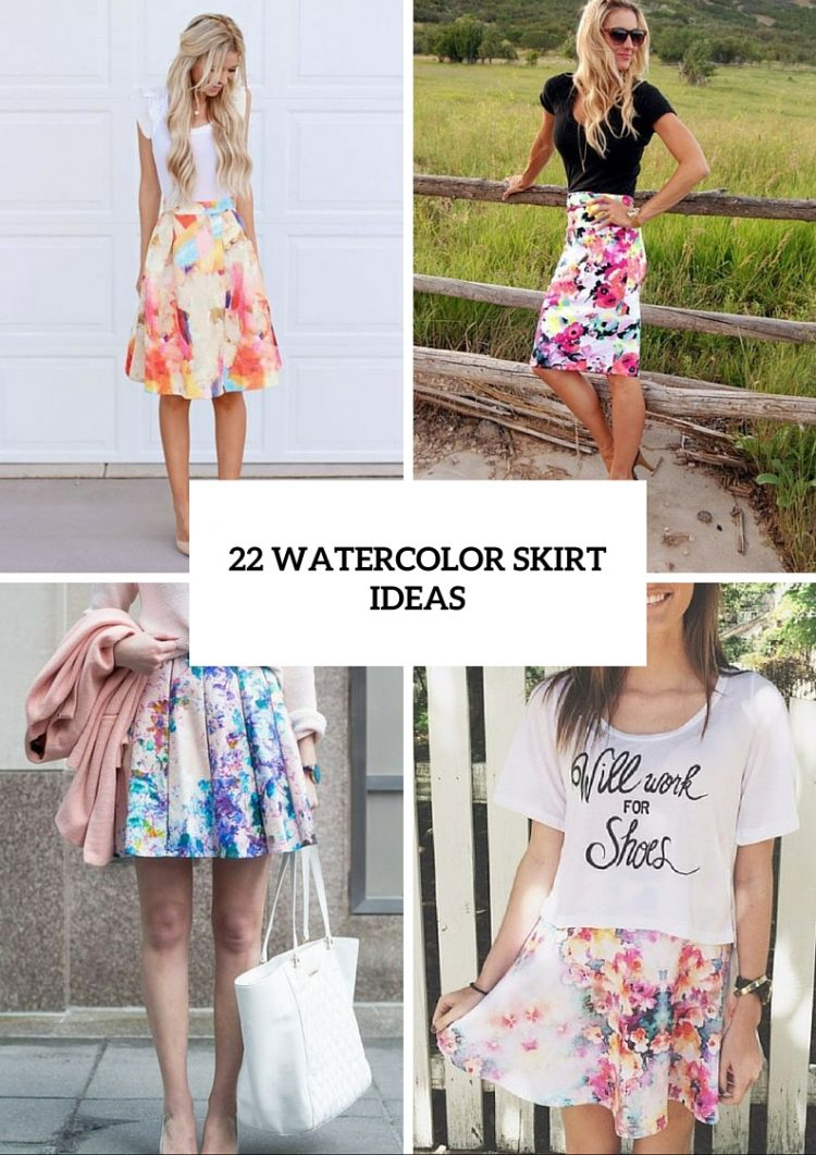 22 Feminine Watercolor Skirt Ideas For This Summer