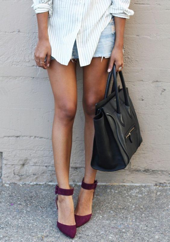 marsala ankle strap heels