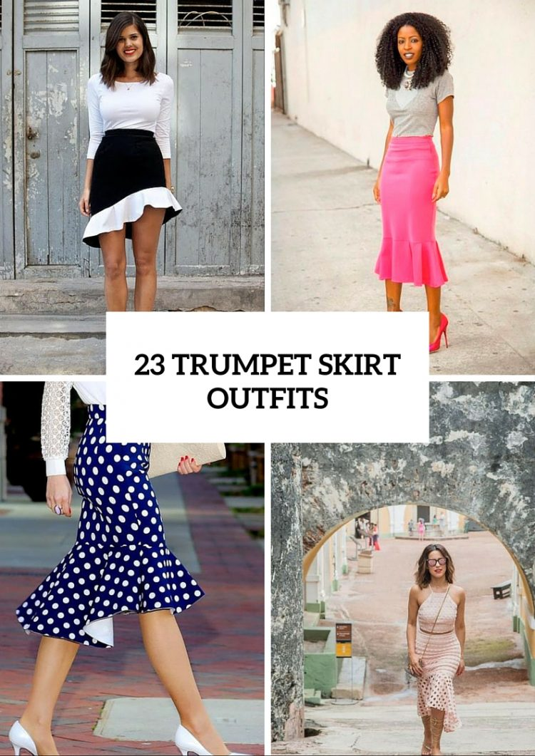 aa9be5992d 23 Awesome Trumpet Skirt Outfits For Summer - Styleoholic