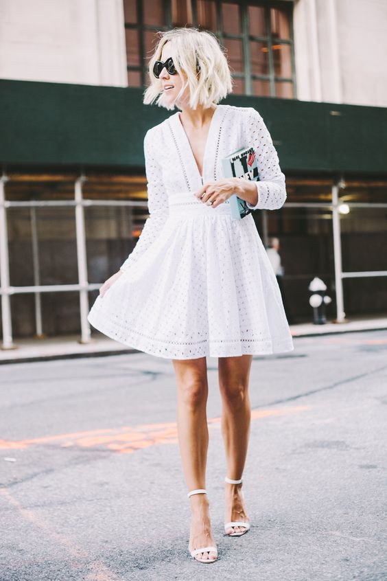 comfy white summer dress