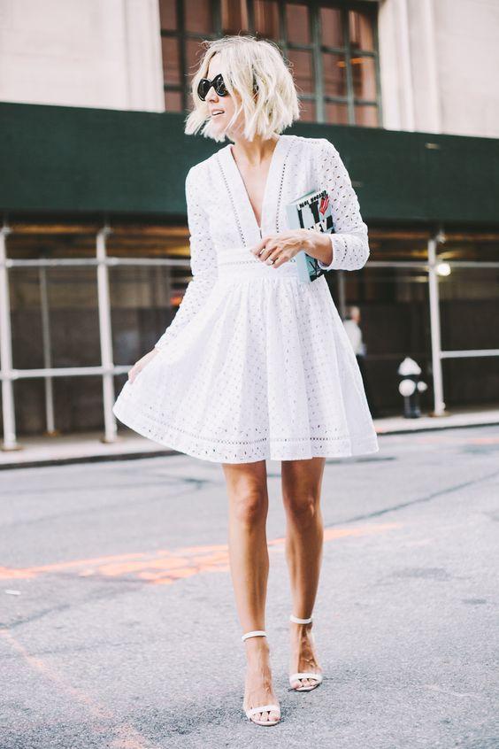 comfy white summer dress