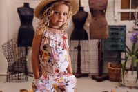 24 floral dungaree
