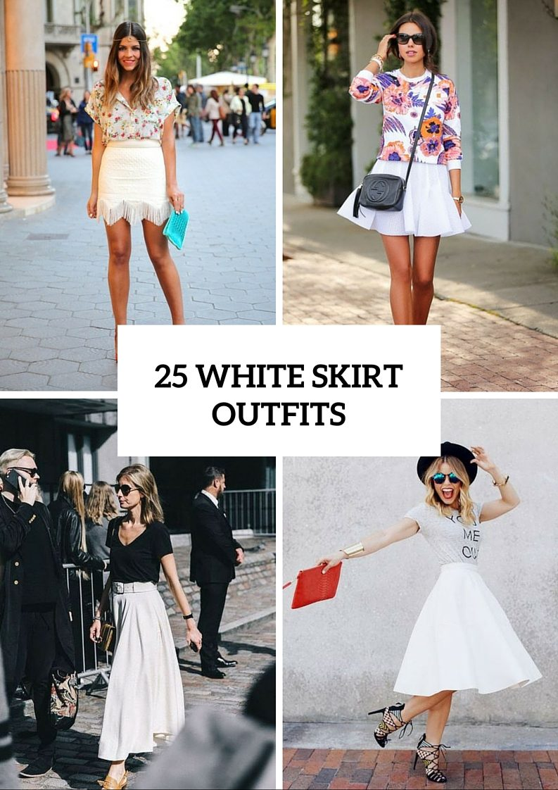 Gentle White Skirt Outfits For Summer