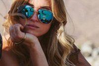 26 mirrored aviator sunglasses